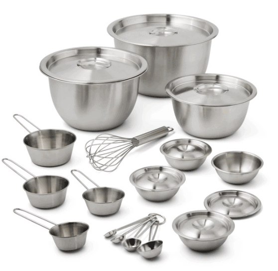 mainstays stainless steel set at walmart