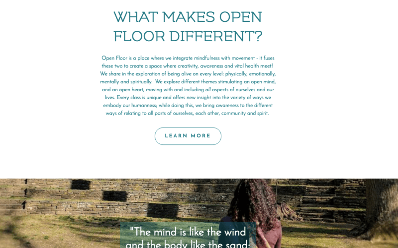 web design for open floor philadelphia