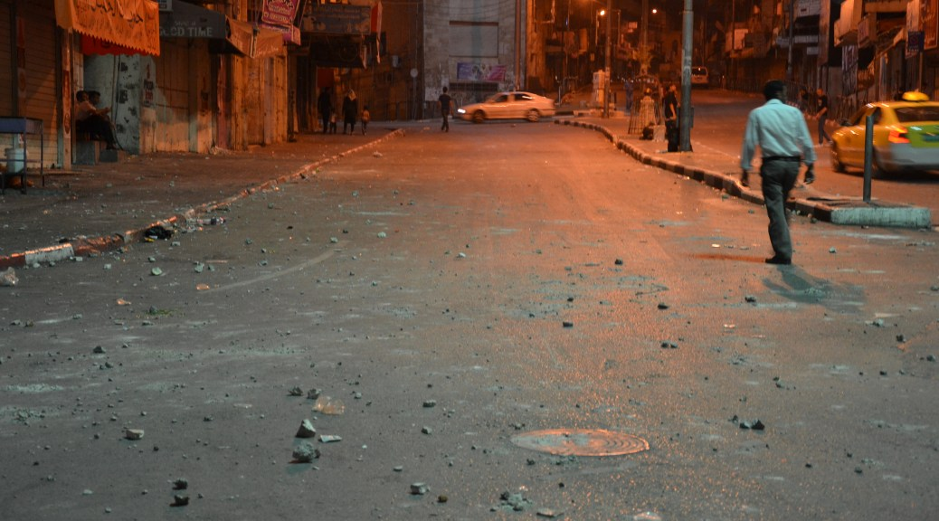 Bab Al-Zawiye after the clashes.