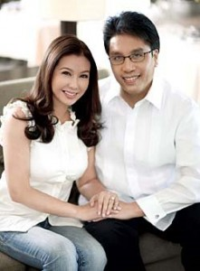 Korina Sanchez and Mar Roxas