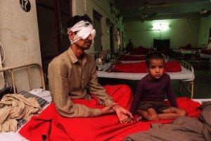Sura victims at Rao Hospital in Delhi