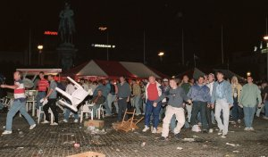 England football hooligans riot in centre of Malmo