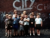 Children near Manchester City's Maine Road ground 1968