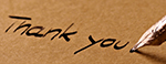 """Hand-written """"thank you."""""""