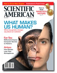Cover of an issue of Scientific American.