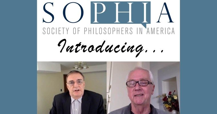 "Photo of the SOPHIA logo, over the word ""Introducing,"" followed by a photo of Jim Lyttle and one of Casey Dorman."