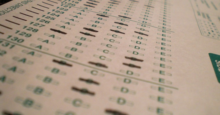 A scantron form.