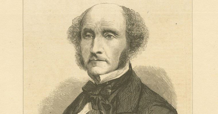 John Stuart Mill, black and white print.