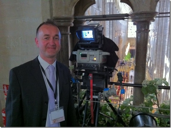 Pete Bowen in westminster Abbey