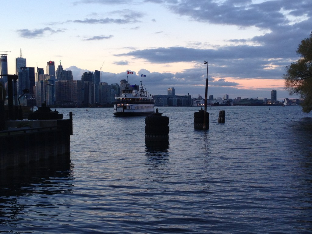 The ferry arriving at Toronto Island. October.