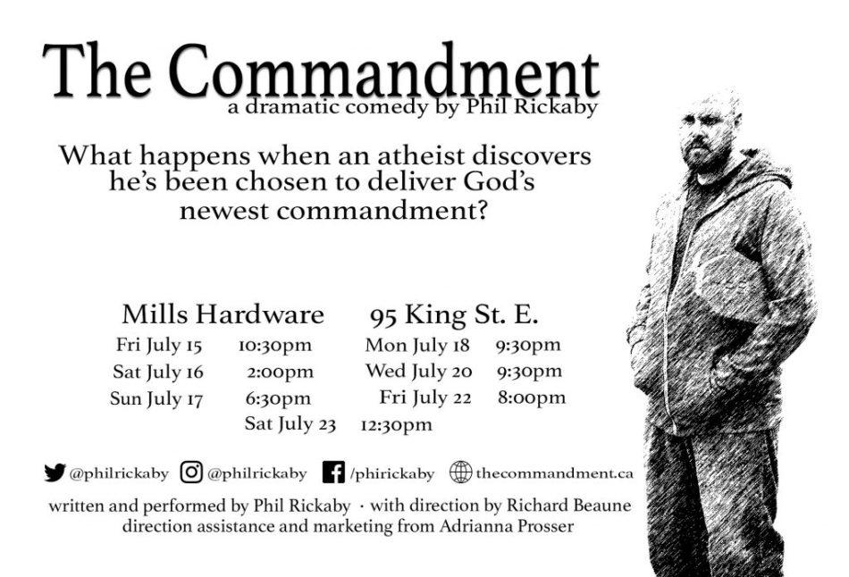 The Commandment Poster BW