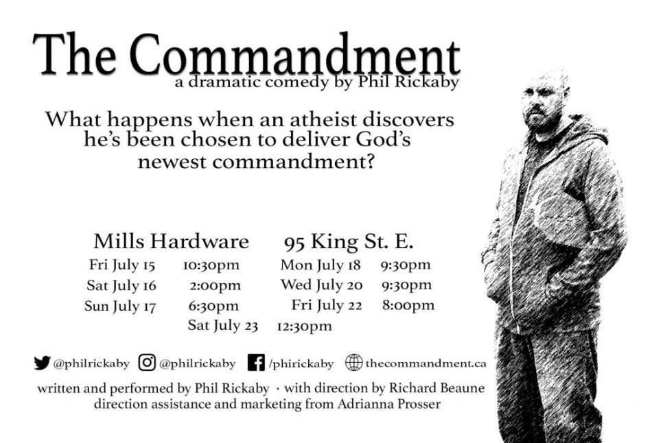 The Commandment Poster BW