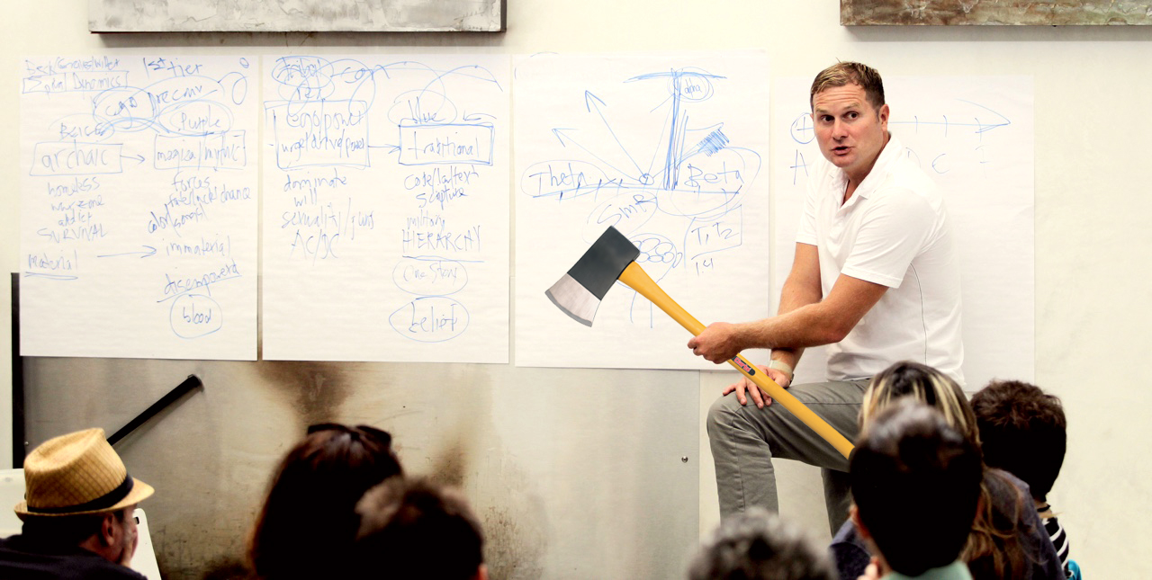 Rob Bell, Axe in Hand