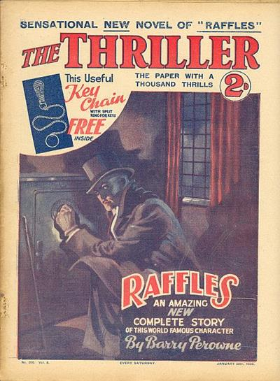 Raffles, EW Hornung's gentleman burglar, at work
