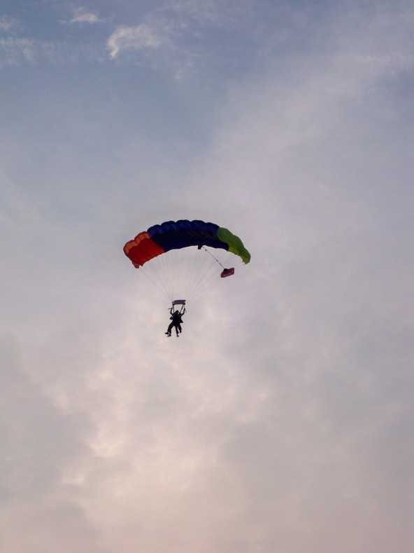 Skydiving at Sunset #2