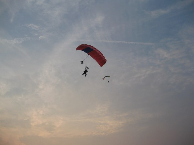 Skydiving at Sunset #1