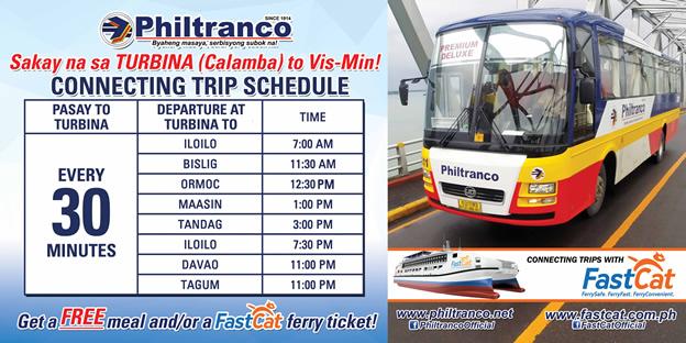 Philtranco Connecting Trips to Turbina to VisMin