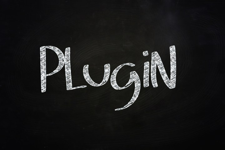 Plugin Lettering, written with Chalk on Blackboard