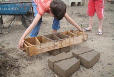 Bauen mit Erdziegeln Tucume Norden von Peru