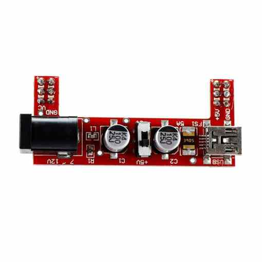 Breadboard Power Supply Module 3.3V - 5V (Red Wings - MB102)