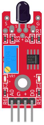 Figure 1: KY-026 Flame Sensor Module