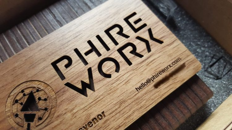 Wooden Business Cards | Close Up