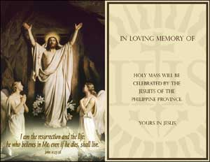 E Mass Cards Philippine Jesuits