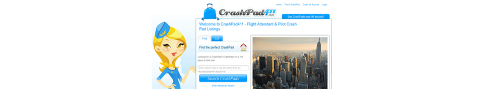 CrashPad411.com - Pilots & Flight Attendants