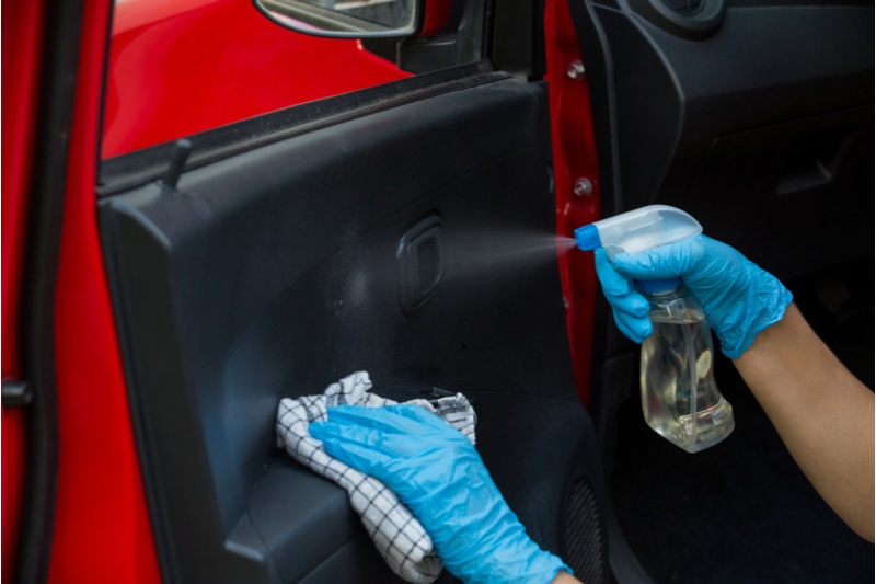 disinfecting your car
