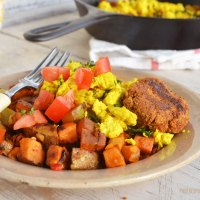 tried it tuesday: vegan sausage scramble & hash