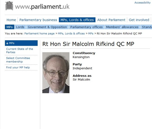 Malcolm Rifkind's page