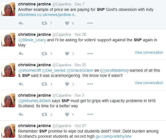 Justine Blames the SNP 1