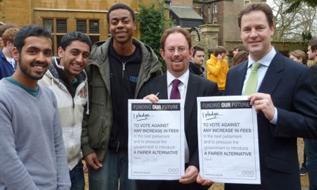 Nick Clegg's tuition fee Carmichael