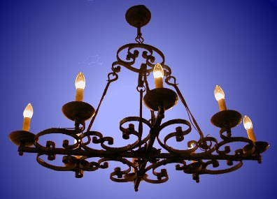 Antique Wrought Iron Candle Chandelier From Our Lighting Catalogue Phoenixant