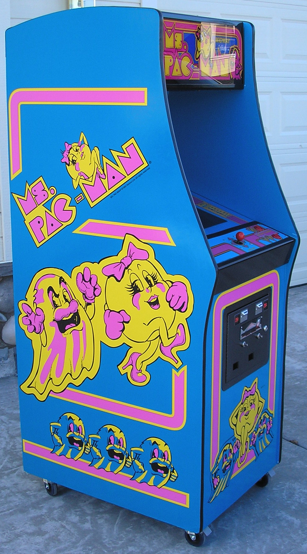 Ms PacMan 3 Piece Decal Set left right and front  Phoenix Arcade  1 Source for Screen