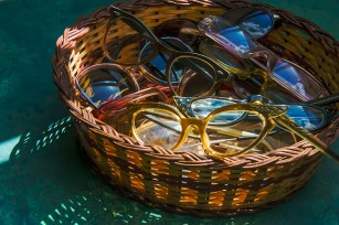 Man-Made – vintage glasses and sunglasses in basket