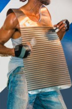 Life – man playing washboard vest