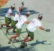 Life – composited skateboarder in a wheelslide