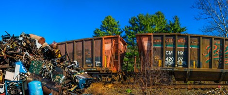 Man-Made – pile of trash to be sorted and loaded on railroad cars - fart