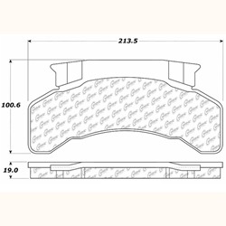 D224 Heavy Duty High Heat Extended Life Disc Brake Pad Set