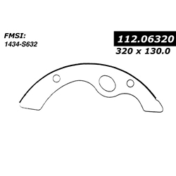 BS 632 Severe Duty Brake Shoes: Mitsubishi Fuso FH, UD CMA