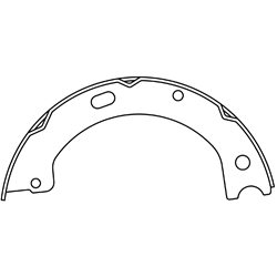 BS 1061 Parking Brake Shoes: Hino FA FB with Manual