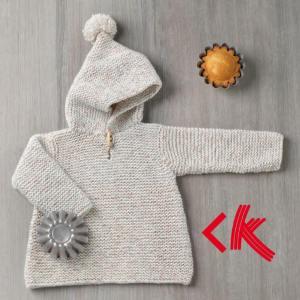 Anleitung PULLI mit Mütze aus Baby Tweed