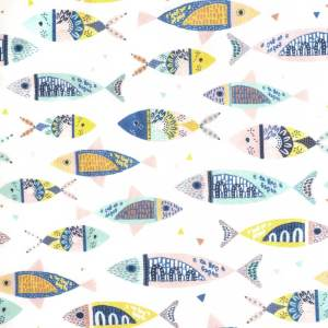 P61 - Popeline Colour fishes