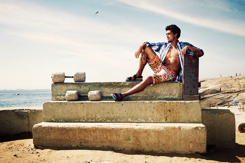 """PHOENIX MAGAZINE Men's fashion from sun-drenched Rio """"LOUD"""" by Florian Renner"""