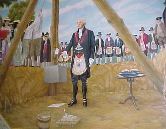 George Wasington lays the cornerstone of the U.S Capitol building in 1793