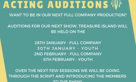 Treasure Island Auditions!