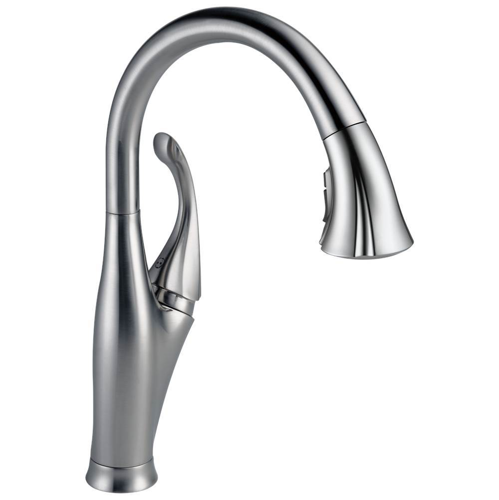 addison single handle pull down kitchen faucet with shieldspray t