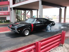 Jeff Ray Bay City, MI 1969 Olds 442 468 engine, Turbo 400 with trans brake and PTGM400/245 3800 stall torque converter