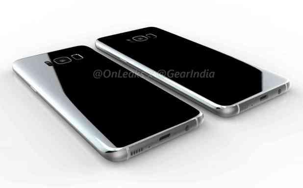 Samsung Galaxy S8 leaked renders rear